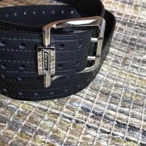 Dickies Black Genuine Leather Belt Size  38/40